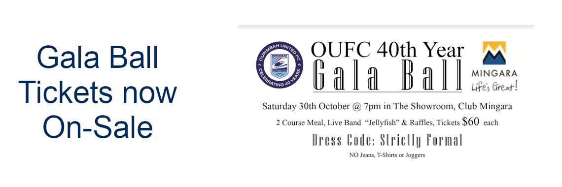 Gala Ball tickets on sale now